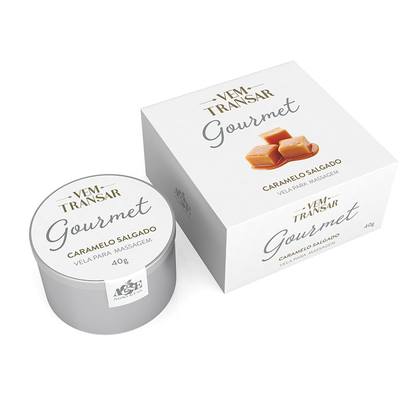Gourmet - Vela Beijável para massagem Beijável - Caramelo Salgado - 40gr