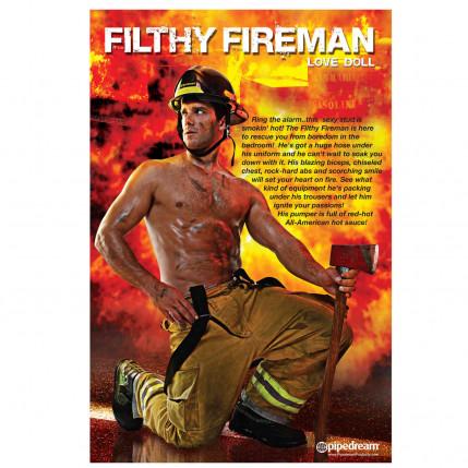 Boneco Inflável Filthy Fireman Love Doll - PD3581-00