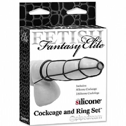 Gaiola e Kit de Anéis Penianos Cockcage and Ring Set - PD4571-23