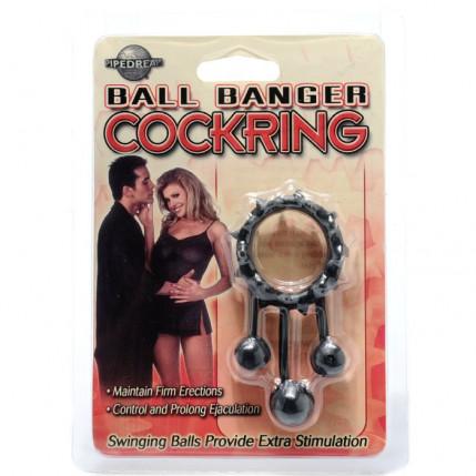 Anel peniano com saliências - BALL BANGER COCK RING BALL - PIPEDREAM
