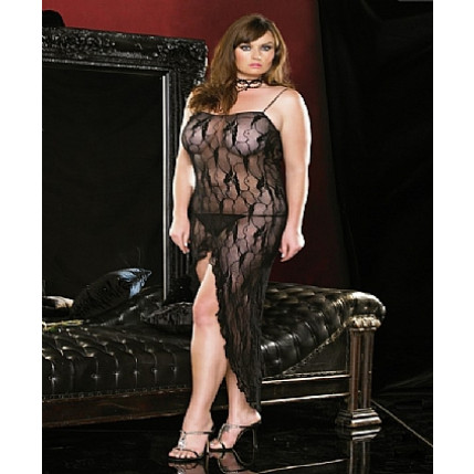Vestido Queen Size Long Chemise - 86002Q