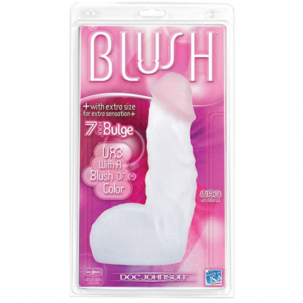 Pênis realístico com escroto - UR3 7 BULGE BLUSH - DOC JOHNSON