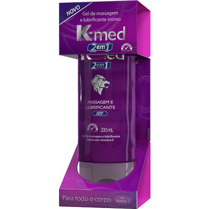 Gel de Massagem e Lubrificante Íntimo - K-Med 2 em 1 - 200 ml