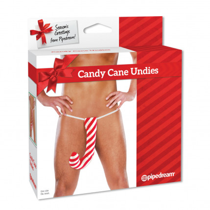 Cueca Erótica Divertida Candy Cane Undies