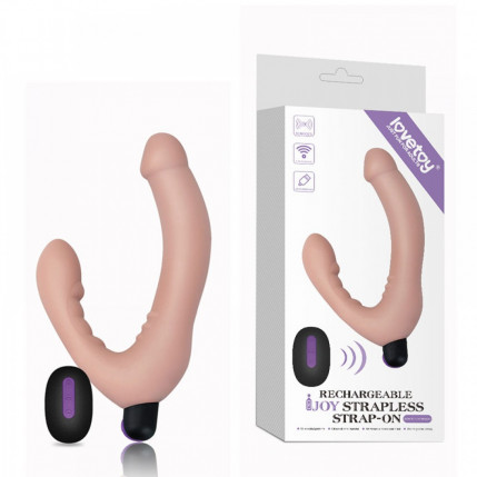 Penetrador Strapless Wireless com 10 Modos de Vibração - LOVETOY JOY STRAPLESS STRAP-ON