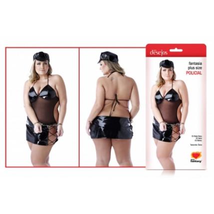 Fantasia Plus Size - Policial