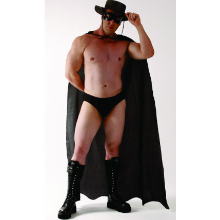 Fantasia Masculina Zorro - Preta