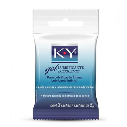 Lubrificante KY gel - 3 sachês 5 grs.