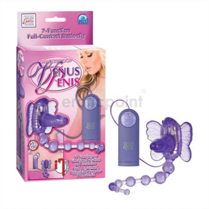 Estimulador clitoriano com pênis e bolinhas tailandesas - VENUS PENIS
