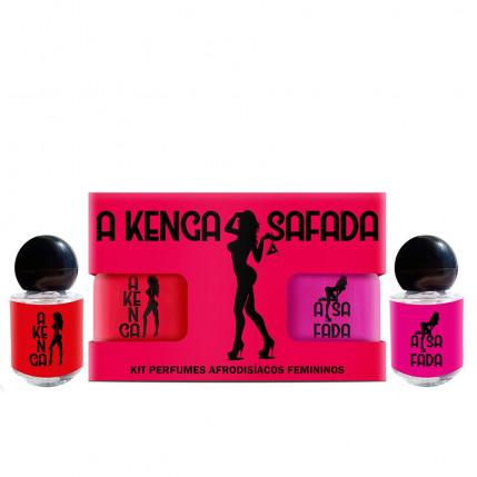 Kit A Kenga Safada Perfume Afrodisíaco Feminino 5ml Sexy Fantasy - 4208