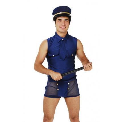 Fantasia Masculina Policial Europeu