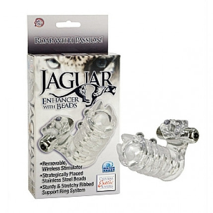 Anel Peniano Vibro Jaguar Enhancer With Beads - SE1631-10