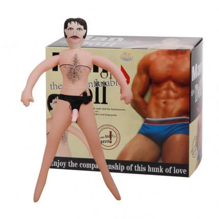 Boneco inflável com pênis com vibro BM-015015 Código 5056