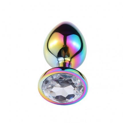 Plug Anal de Aço com Pedra de Cristal - Tamanho P - 5474