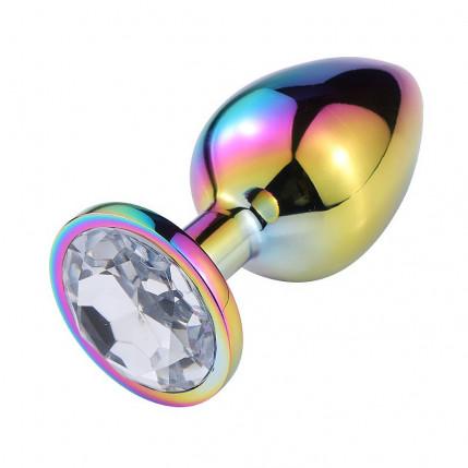 Plug Anal de Aço com Pedra de Cristal - Tamanho G - 5298