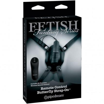 Estimulador de Clitóris com Cinta e Vibrador Butterfly Strap On - PD4450-23
