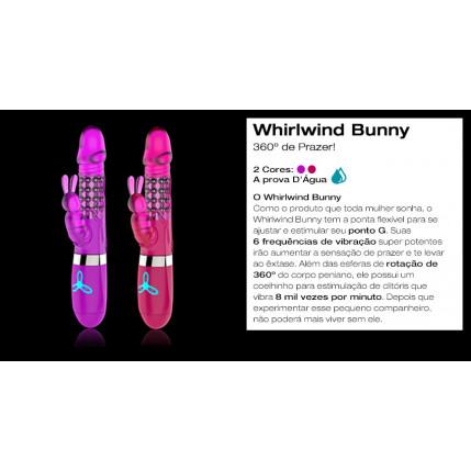 Vibrador Rotativo Whirlwind Bunny - DIBE - LILÁS - 6 modos de rotação e vibração, G-spot
