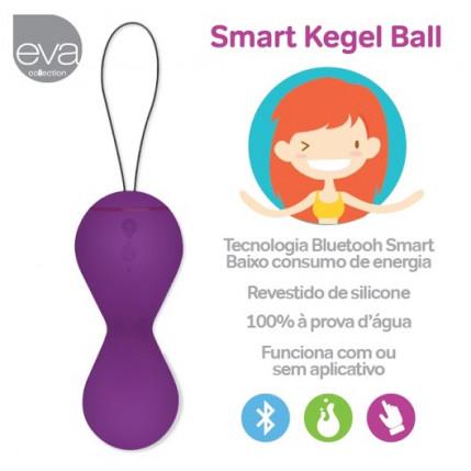 Smart Kegel Ball - Esfera de pompoar controlada por Aplicativo - Recarregável