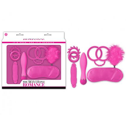 Kit The Mean Couple Romance Pink, Com Algema Silicone - 7084