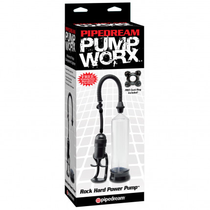 Bomba Peniana Manual Rock Hard Power Pump - Coleção Pump Worx