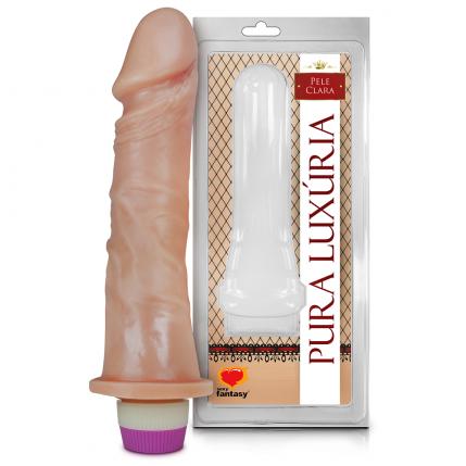 Prótese Pura Luxúria Realístico Com Vibro 18 x 4,4 Cm Sexy Fantasy - 5081