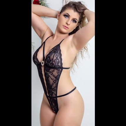 Body Renda Preta - 2747